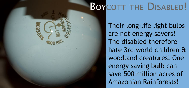 Boycott the disabled!